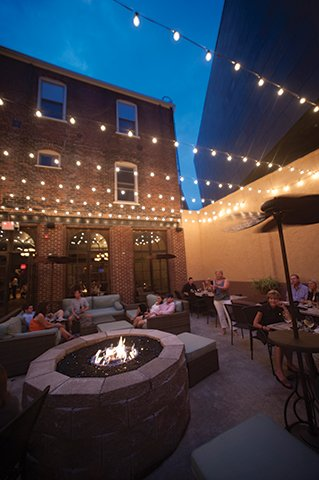 Billy's inviting outdoor courtyard.