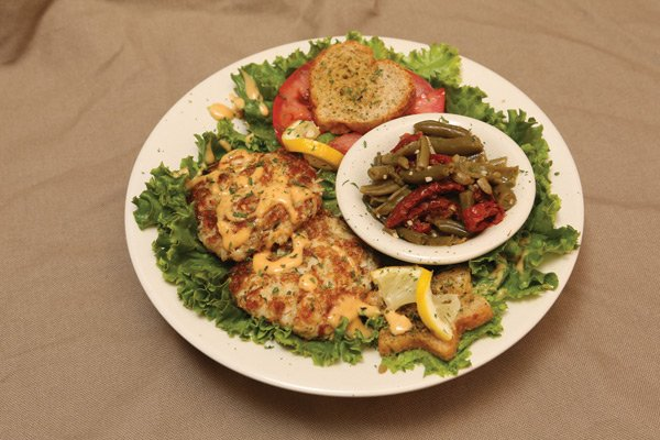 Crabcakes at Teaberry's
