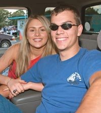 Couple at Drive-in