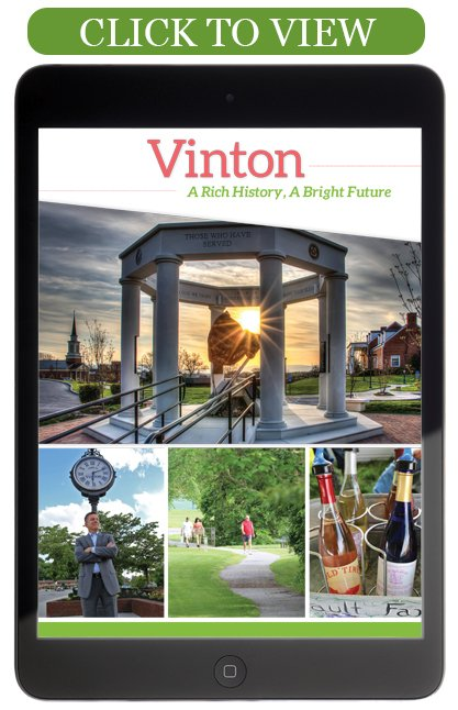 Click to View the 2015 Vinton Visitor's Guide