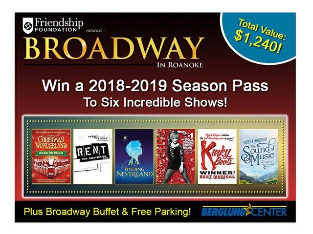 Broadway In Roanoke 2018-2019 Season Package - Homepage Banner