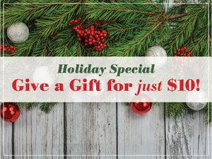 Holiday Special: Give a Gift for JUST $10!