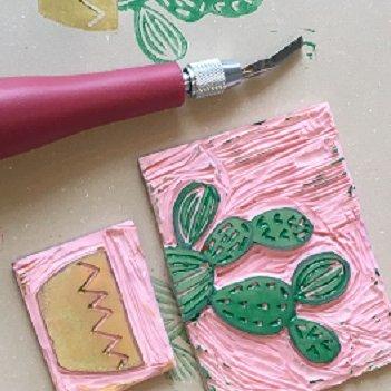 Linocut printmaking tile.jpg