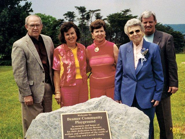 Beamer Community Playground dedication