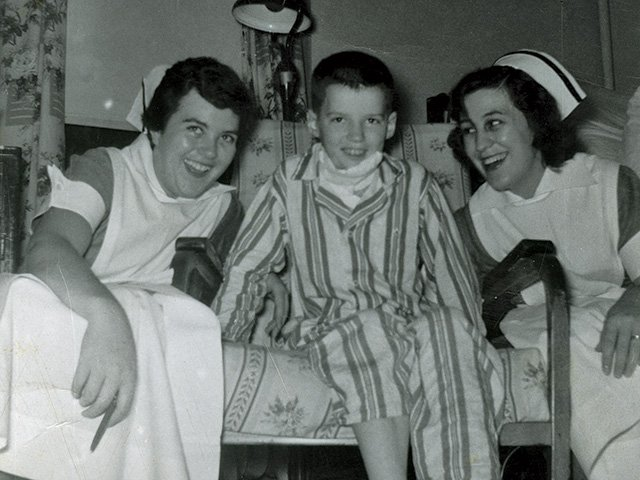 Young Frank Beamer in the Hospital