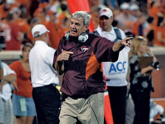 Frank Beamer on the field